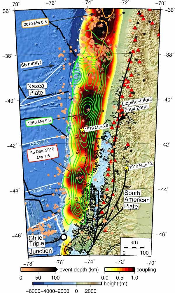 Тектонический контекст Чилийских землетрясений
