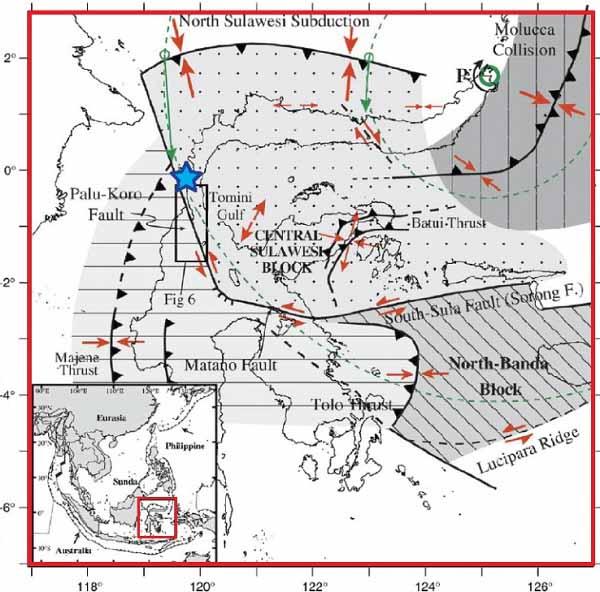 Тектоническая схема района землетрясения